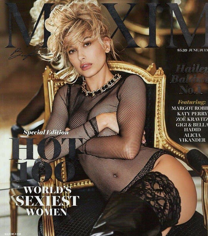 Hailey Baldwin was named number one on Maxim's annual Hot 100 issue