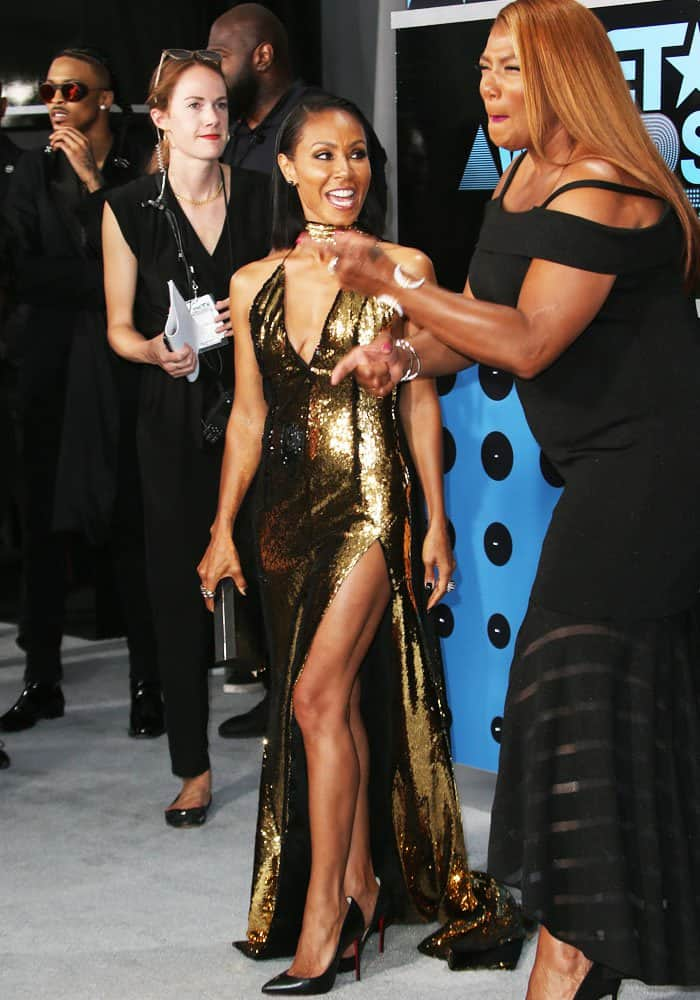 Jada has some red carpet laughs with Queen Latifah