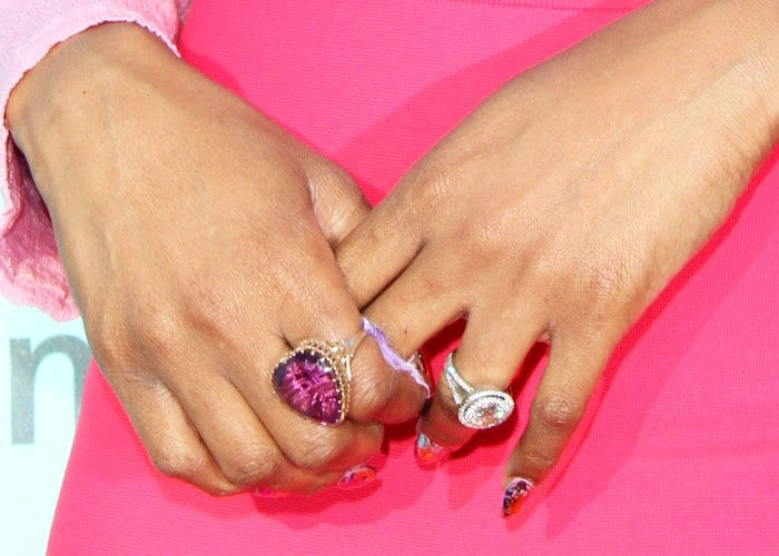 Candy crush: Jennifer's candy-colored rings left us with a little jewelry crush