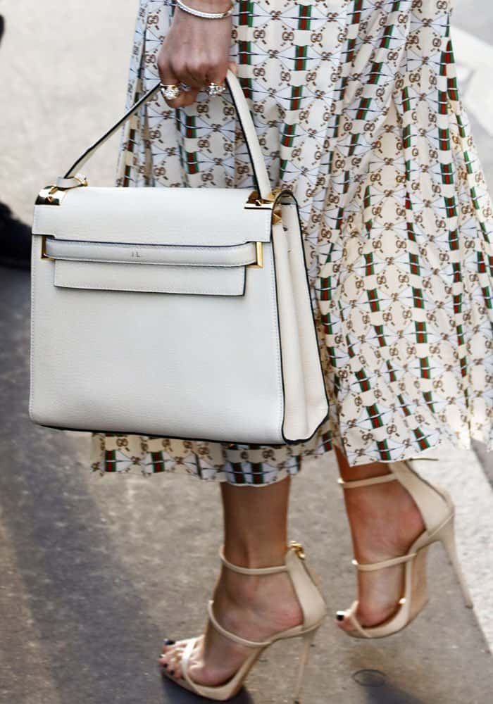 J.Lo shows off her customized Valentino tote