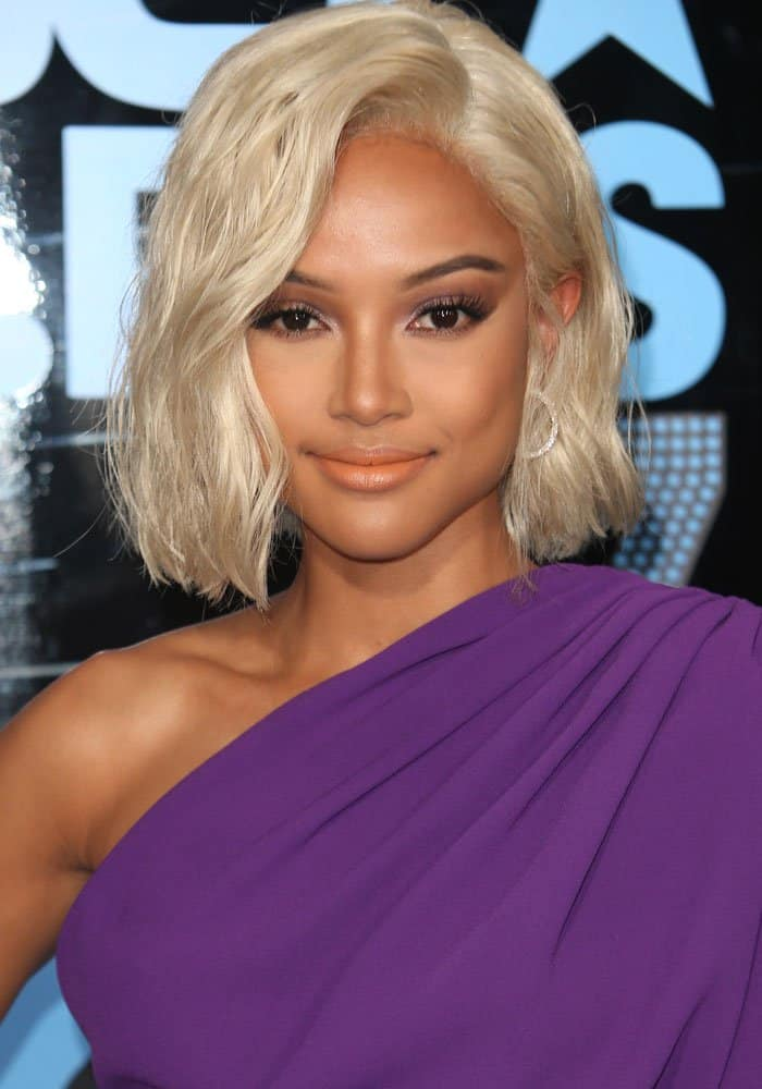 karrueche tran goes blonde in sparkly gianvito rossi portofino sandals