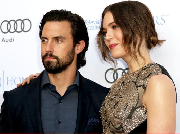 Mandy is joined by her onscreen partner Milo Ventimiglia