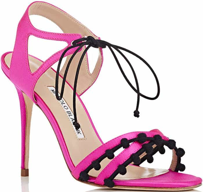 Manolo Blahnik Esparra satin sandals