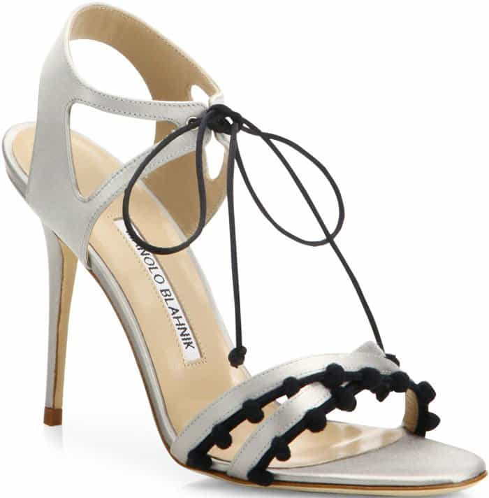 Manolo Blahnik Esparra satin sandals
