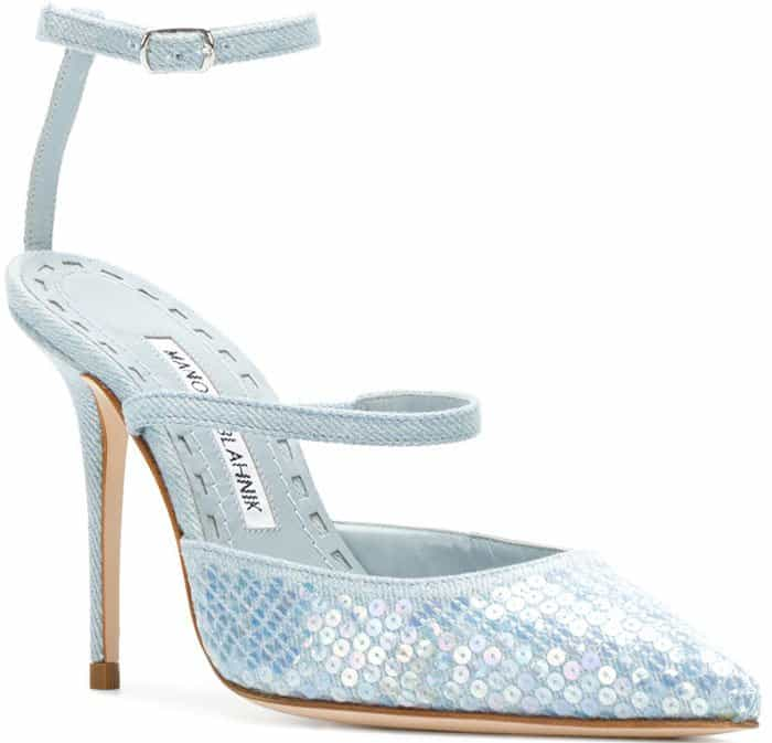 Rihanna x Manolo Blahnik Sea Salts Sequins shoes