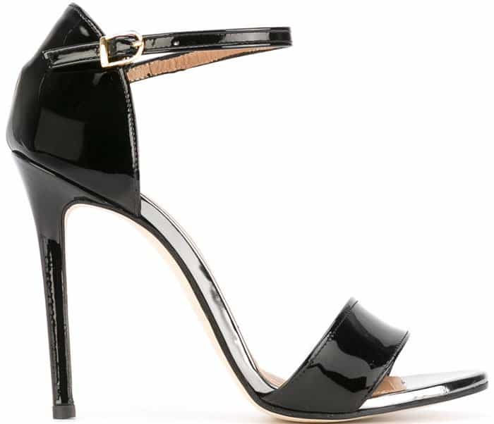 Marc Ellis patent stiletto sandals