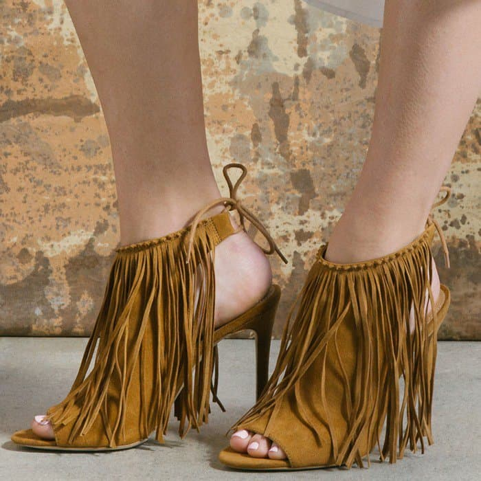 Playful 'Nelli' Fringe Peep-Toe Sandals