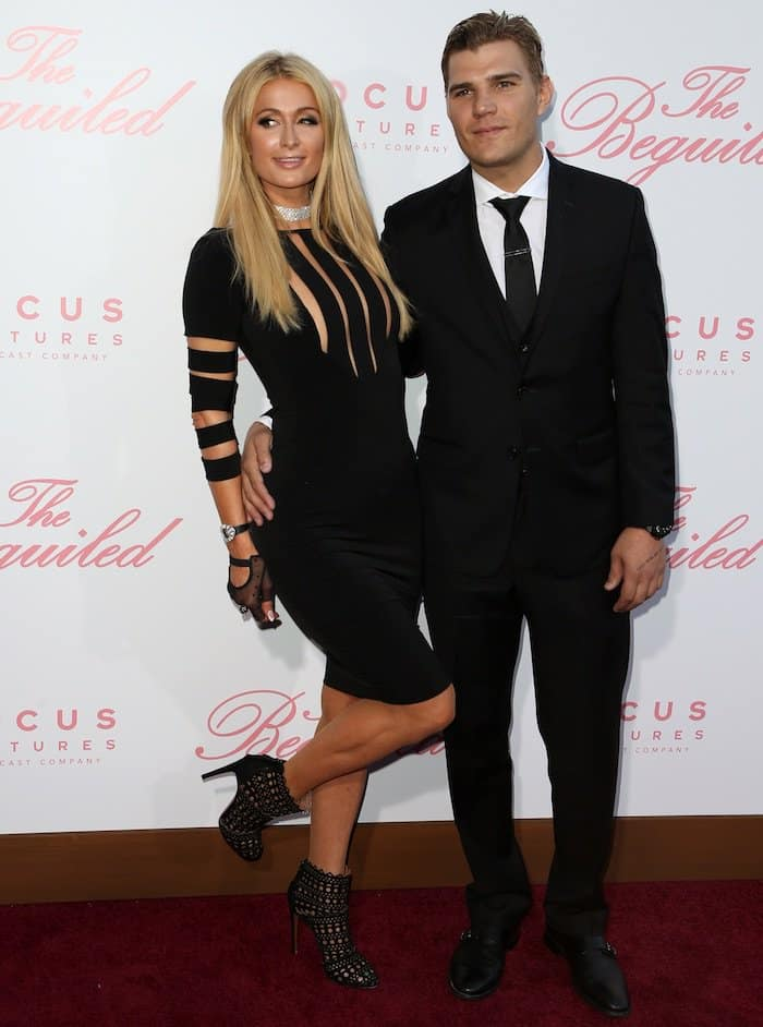 """Paris Hilton and boyfriend Chris Zylka head to the Los Angeles Premiere of """"The Beguiled"""" at the Director's Guild Theatre on June 12, 2017, for date night"""