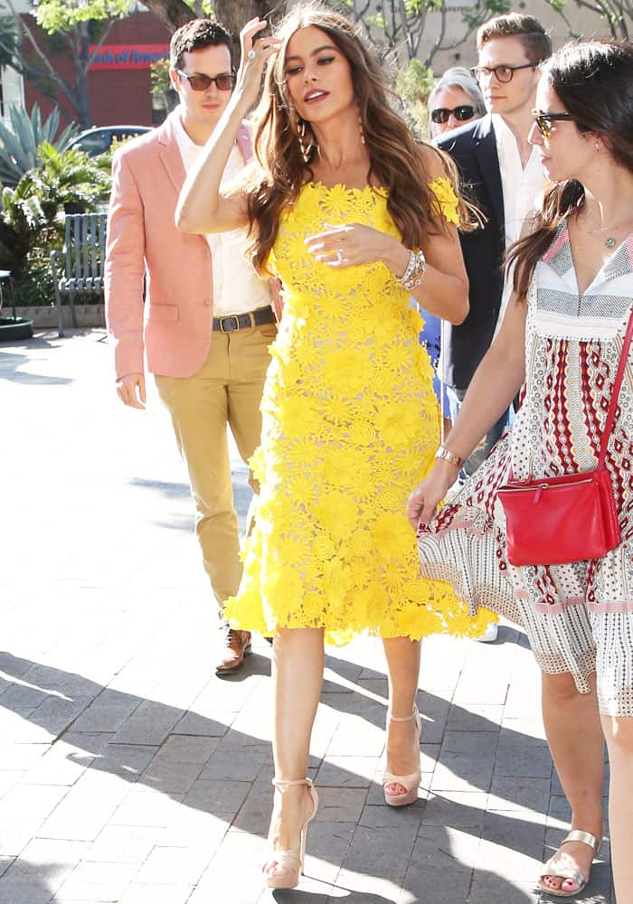 Sofia makes her way through the LA Festival crowd