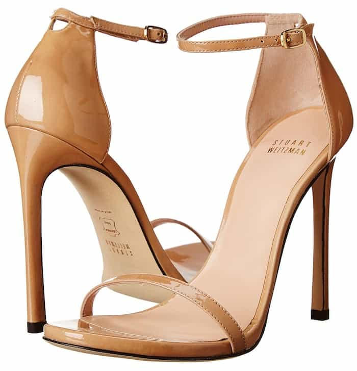 Stuart Weitzman Nudist Ankle-Strap Sandals