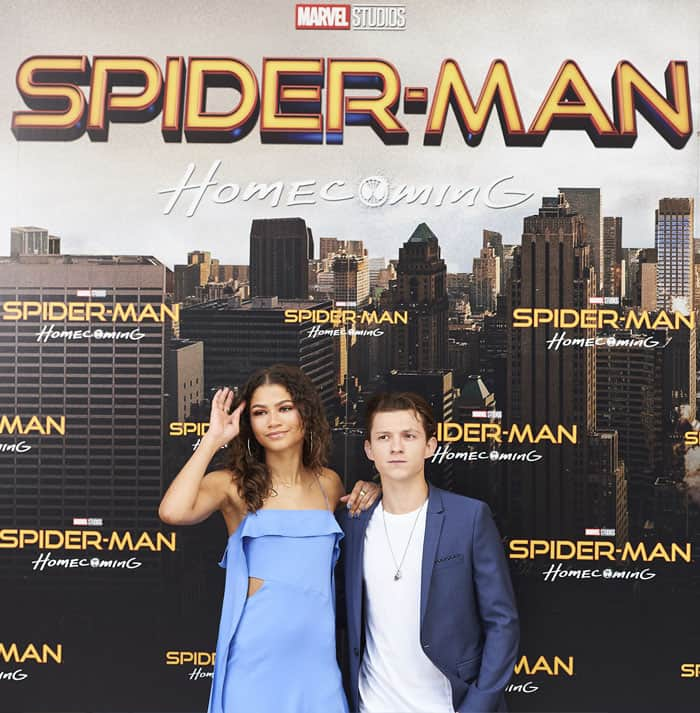 """""""Michelle"""" and """"Peter"""" promote """"Spiderman: Homecoming"""" in Madrid, Spain"""
