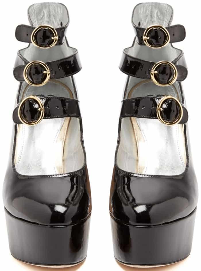 AlexaChung Mary Jane patent leather platform pumps