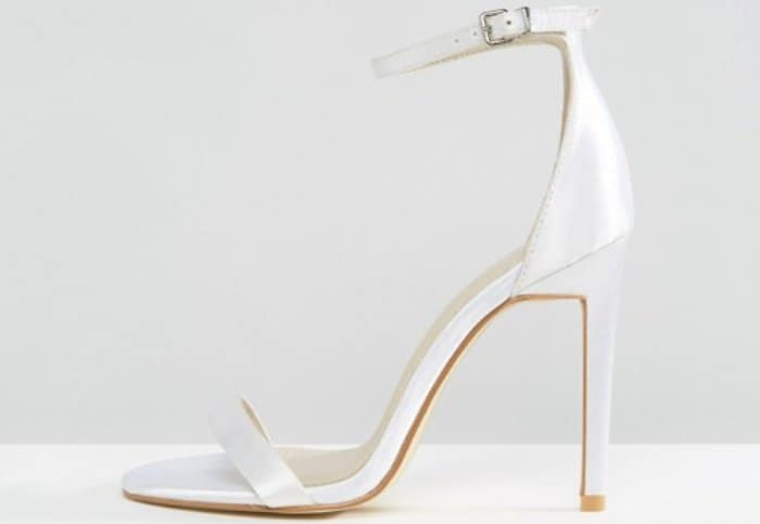 Boohoo Bridal Barely There Heeled Sandals