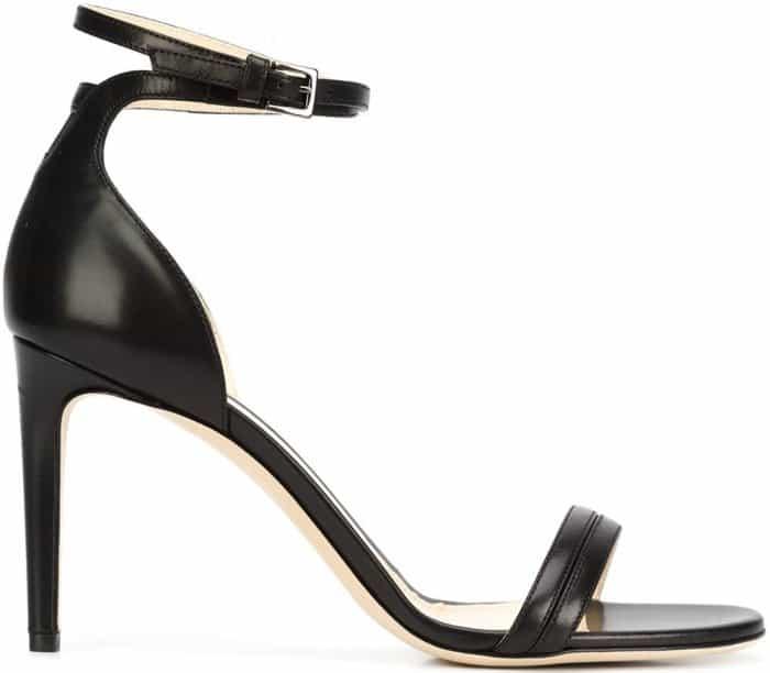 "Chloe Gosselin ""Narcissus"" sandals in black calf leather"