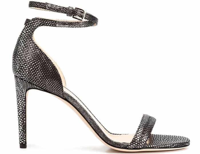 """Chloe Gosselin """"Narcissus"""" sandals in silver and black karung"""