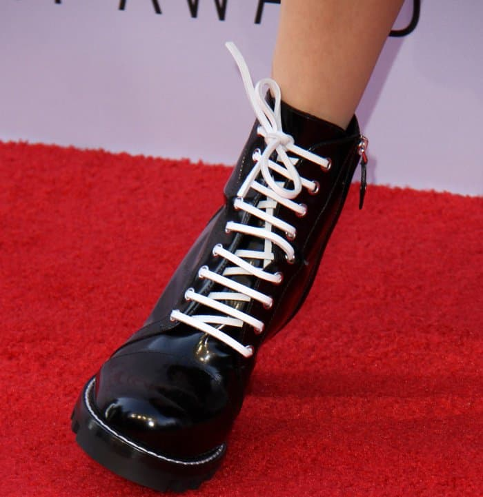 """Diane Keaton wearing Louis Vuitton """"Star Trail"""" ankle boots at the 45th American Film Institute Life Achievement Award Gala Tribute"""