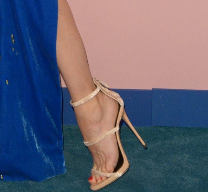 Diane Kruger's sexy feet in Giuseppe Zanotti sandals