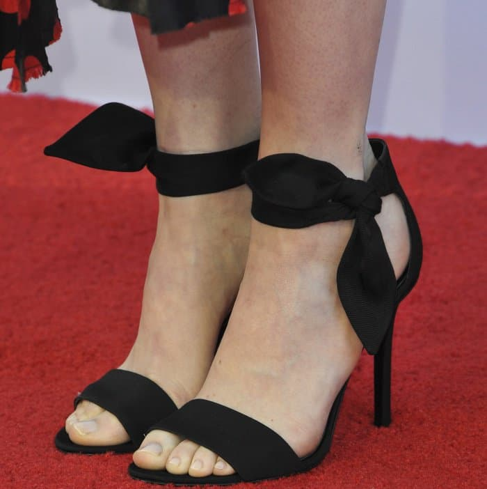 "Emma Stone wearing Stella Luna ""Carioca"" sandals at the 45th American Film Institute Life Achievement Award Gala Tribute to Diane Keaton"