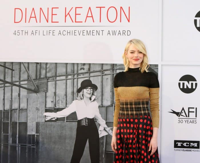 Emma Stone at the 45th American Film Institute Life Achievement Award Gala Tribute to Diane Keaton