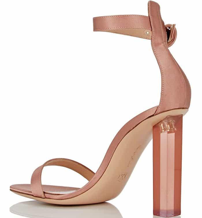 """Gianvito Rossi """"Portofino"""" Sandals in Blush Satin"""
