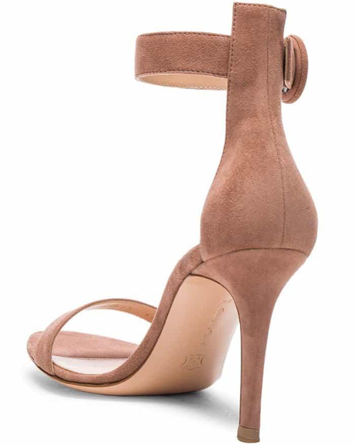 "Gianvito Rossi ""Portofino"" Sandals in Praline Suede"