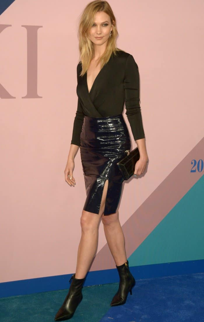 Karlie Kloss at the 2017 CFDA Fashion Awards held at the Hammerstein Ballroom in New York City on June 5, 2017