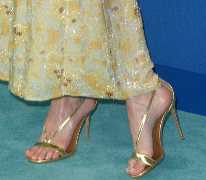 Kate Bosworth put her pretty toes on display at the 2017 CFDA Fashion Awards