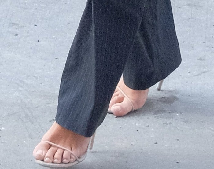 Kim Kardashian in Yeezy Sandals