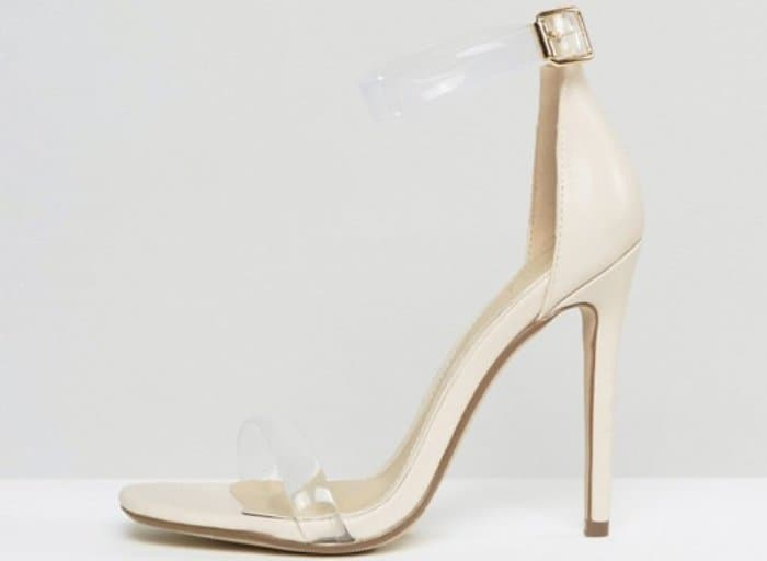 Missguided Clear Strap Barely There Heeled Sandals