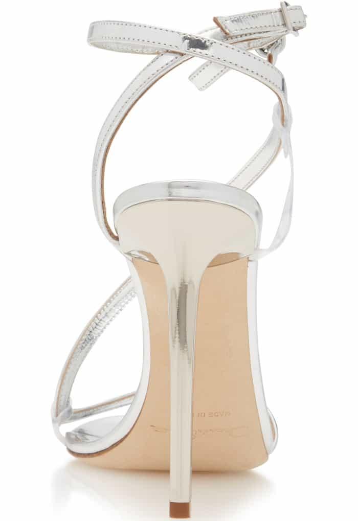 "Oscar de la Renta ""Romy"" Metallic Leather Sandals"