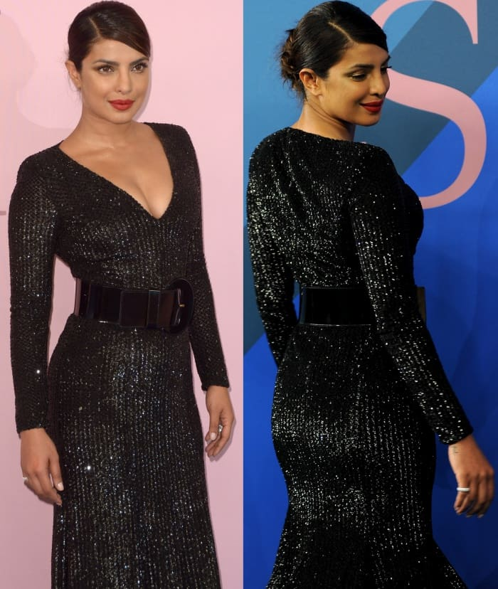 Priyanka Chopra's wide belt that highlighted her tiny waist