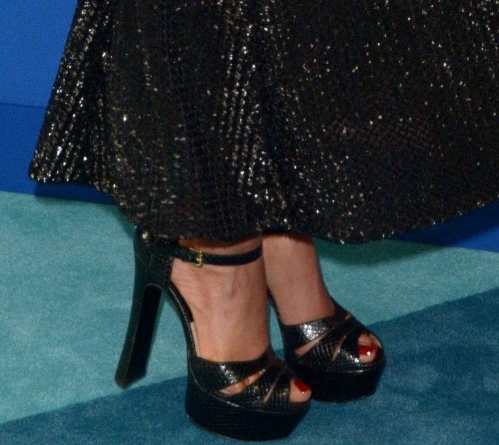 Priyanka Chopra's pedicured toes in strappy shoes