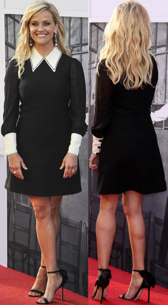 """Reese Witherspoon wearing a Miu Miu dress and Jimmy Choo """"Kelly"""" sandals at the 45th American Film Institute Life Achievement Award Gala Tribute to Diane Keaton"""