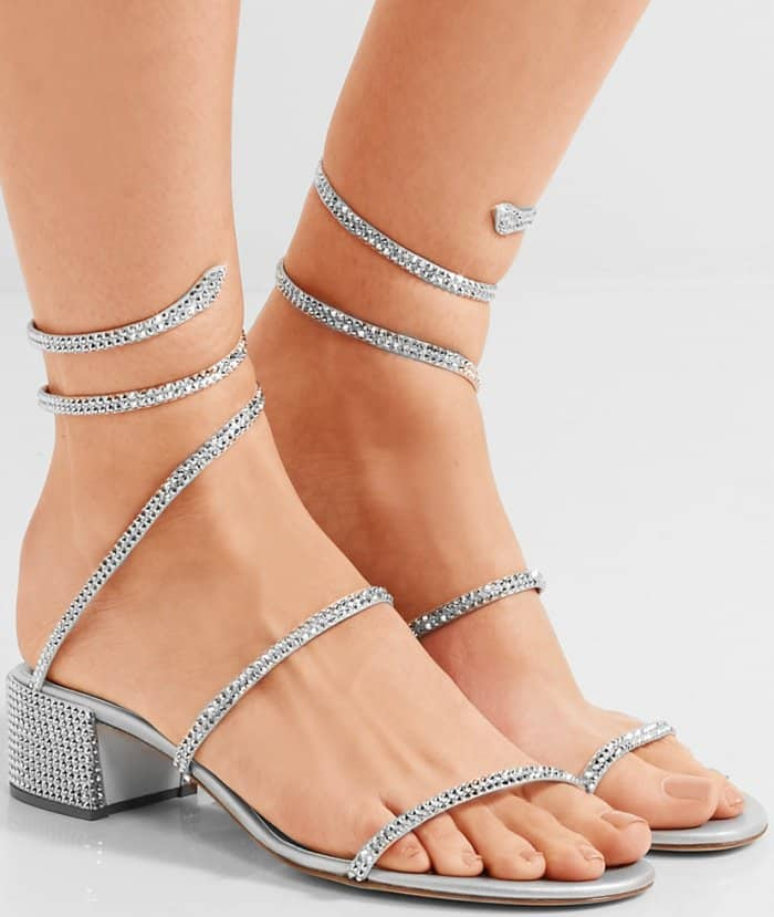 34c0a4e1fd9 Add Sparkle to Your Look With Rene Caovilla's Crystal-Embellished Heels