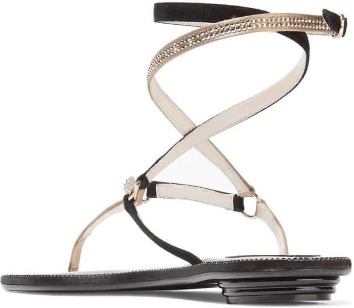 Rene Caovilla crystal-embellished suede sandals