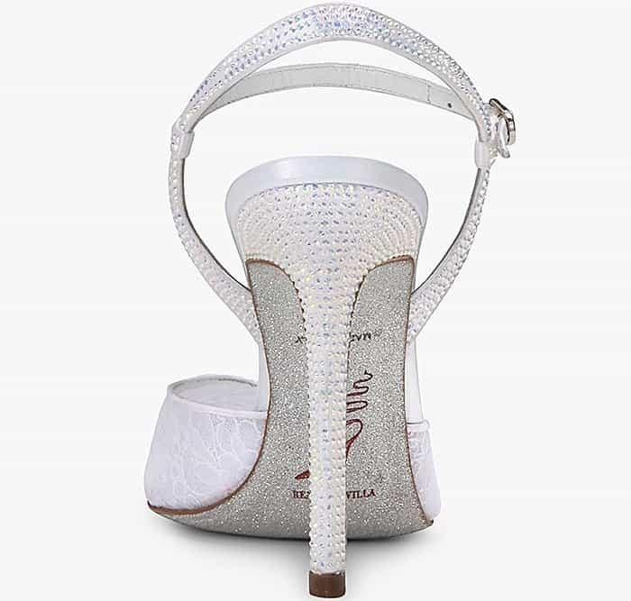 Rene Caovilla lace slingback pumps with diamante detailing
