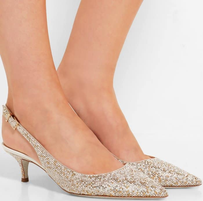 9b3d5209ae0a Add Sparkle to Your Look With Rene Caovilla s Crystal-Embellished Heels