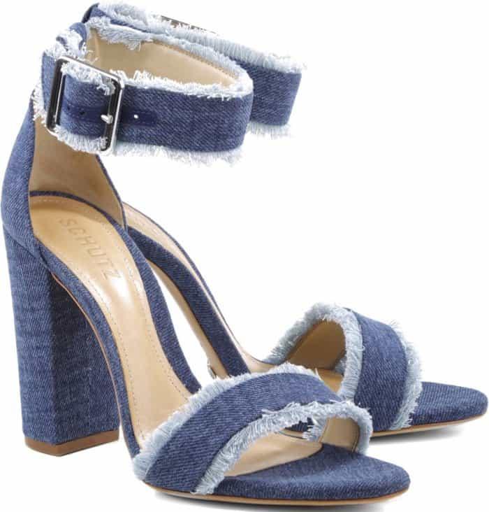 """Schutz """"Janessa"""" denim sandals"""