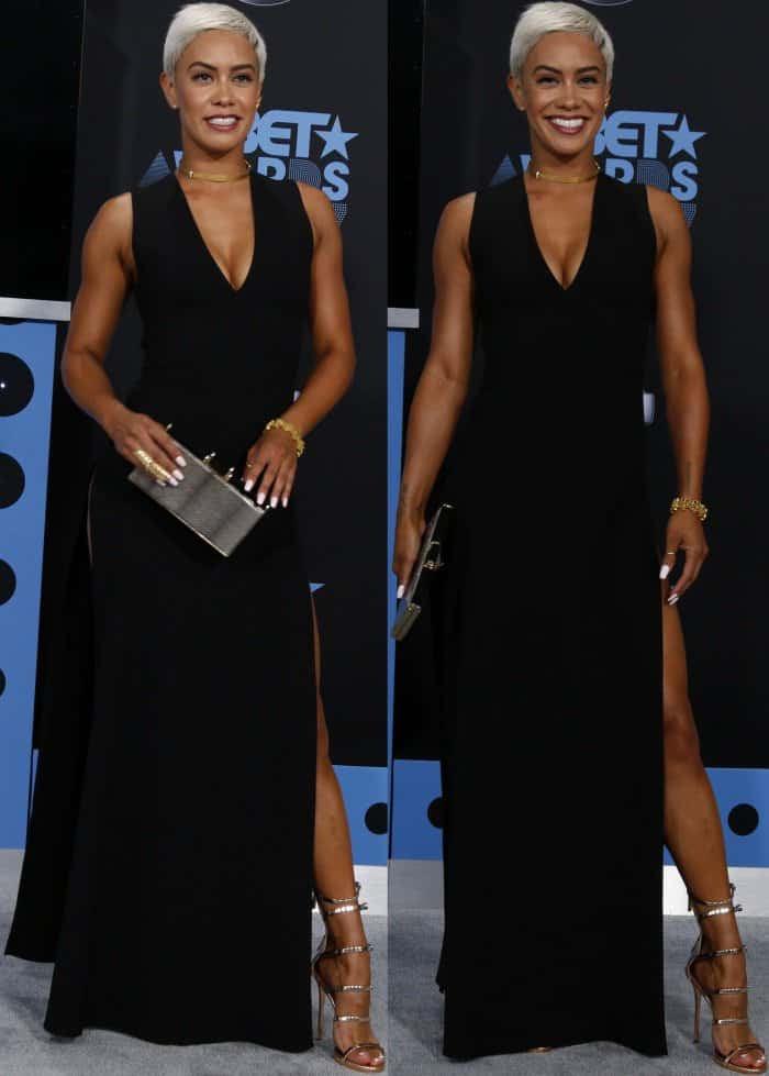 Sibley Scoles at the 16th Annual BET Awards held at the Microsoft Theater in Los Angeles, California, on June 25, 2017