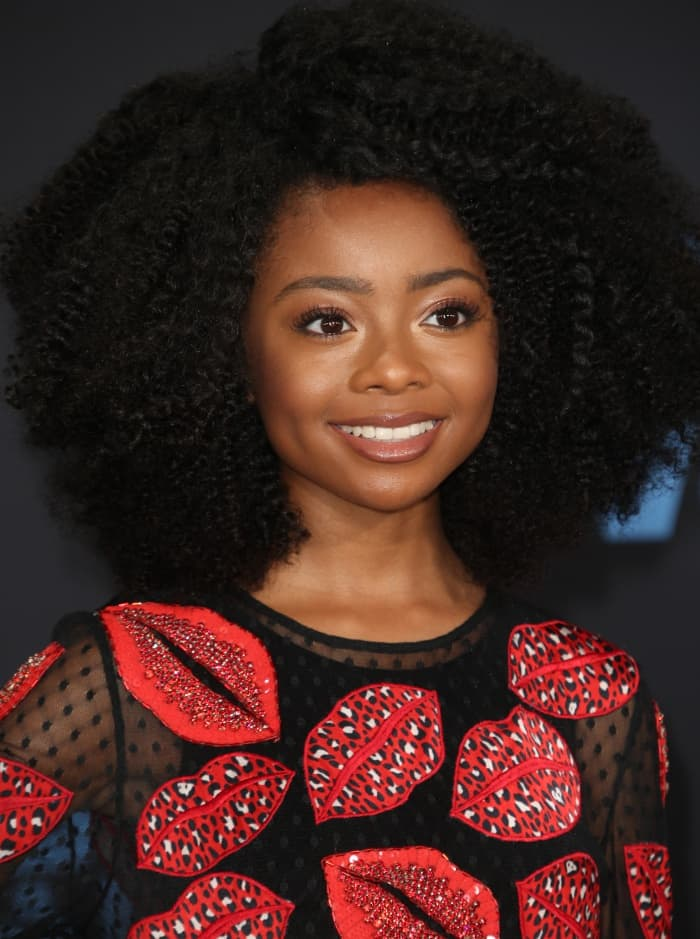 Skai Jacksonwith voluminous curls at the 16th Annual BET Awards held at the Microsoft Theater in Los Angeles, California, on June 25, 2017