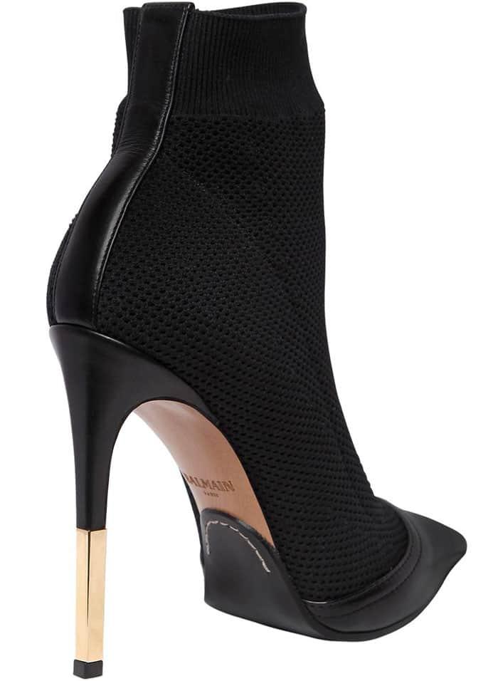 Balmain 'Aurore' Stretch-Fabric Ankle Boots