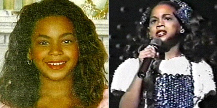 "8-year-old Beyoncé looked when performing ""Home"" from ""The Wiz"" in a Peoples' Workshop talent competition"