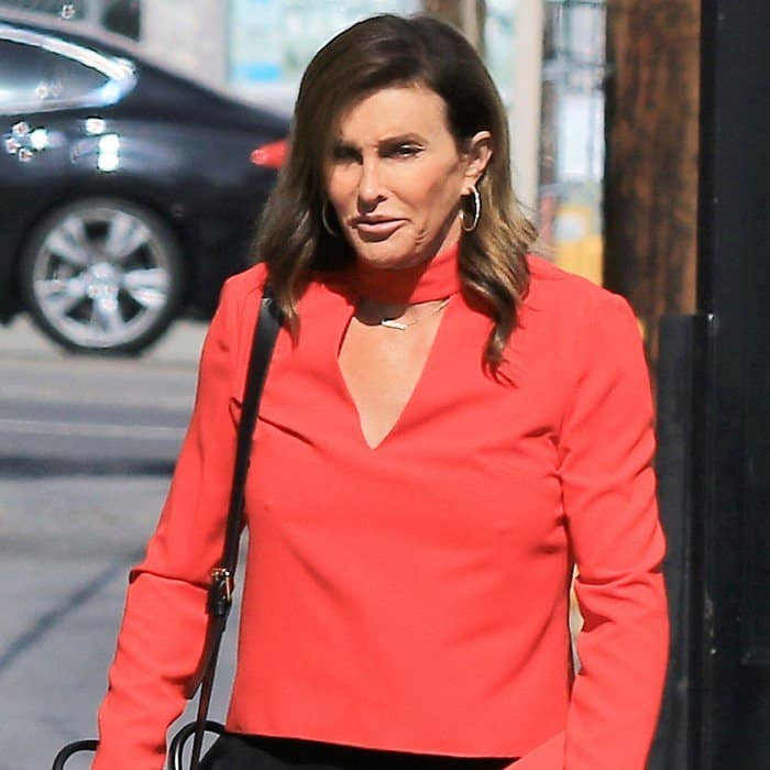 Caitlyn Jenner arrives at the 'Jimmy Kimmel Live!' studios in Los Angeles on July 18, 2017