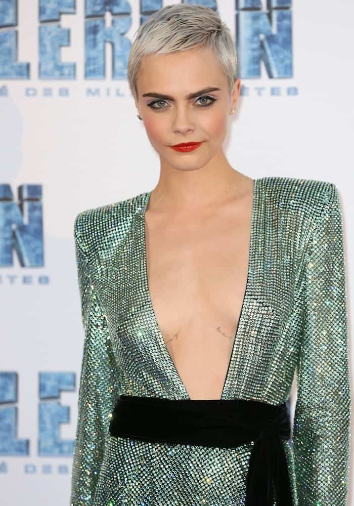 Cara Delevingne for the premiere of her latest movie 'Valerian and the City of a Thousand Planets' in Paris