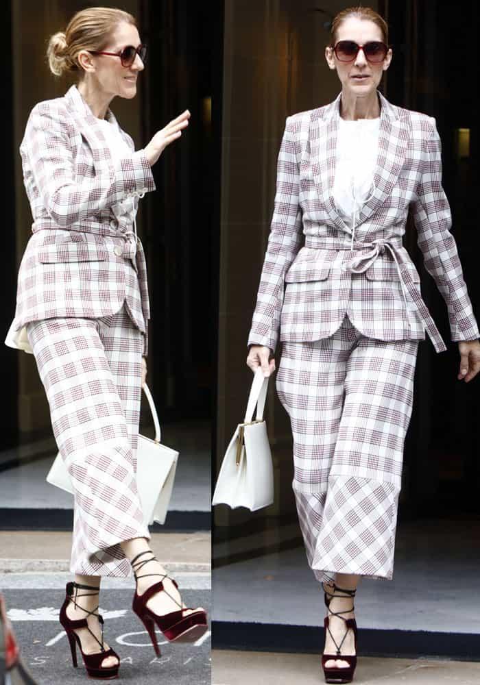 Celine soared to great style lengths in an Antonio Berardi Resort 2018 look