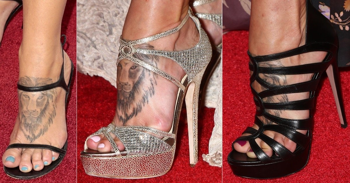 Foot and leg tattoos 17 celebrities showing off their ink voltagebd Image collections