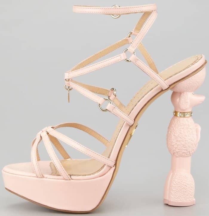 Charlotte Olympia Cherie Poodle Heel Platform Sandals