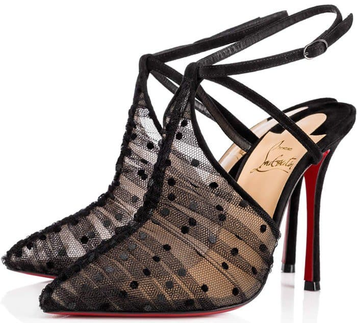 Christian Louboutin 'Acide Lace' Tulle Red Sole Pump