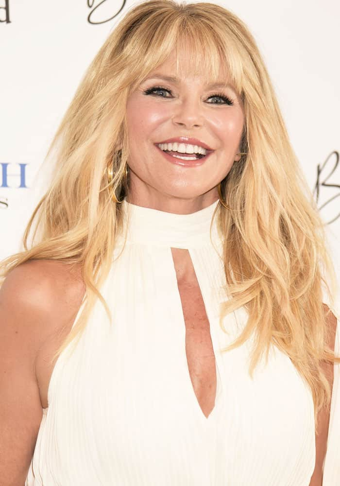 Christie Brinkley Flaunts Legs In Gianvito Rossi Sandals