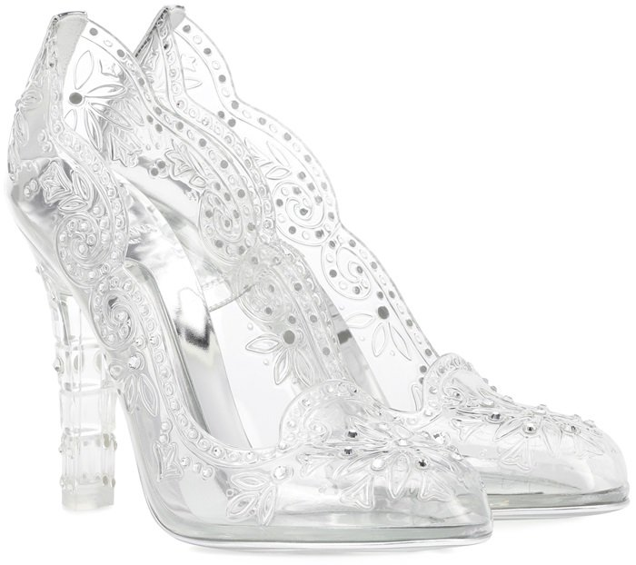 Live out your own fairytale in these transparent pumps from Dolce & Gabbana